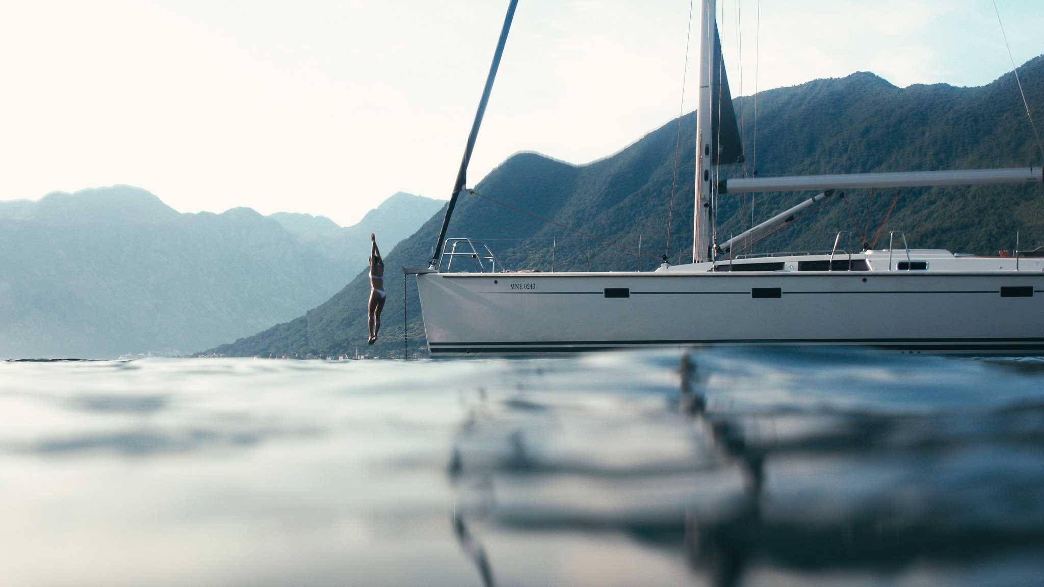 Yacht in the water